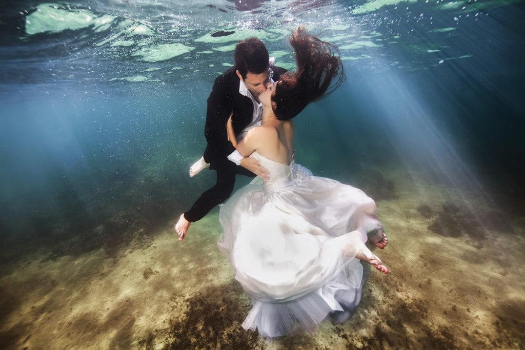 se marier sous l eau