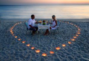 plage pour amoureux