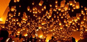 sky-lanterns