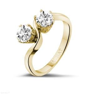 Bague or en en diamant