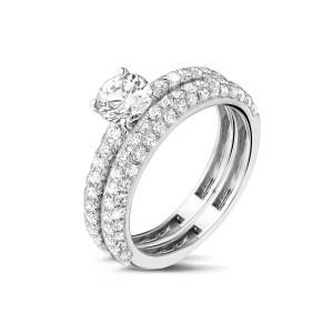 bague de fiançailles diamant et alliance